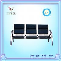 Wholesale fashional beauty salon furniture Black three seats waiting chairs from china suppliers
