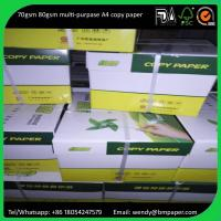 Wholesale 210 x 297mm original grade A a4 copy paper legal size paper 80gsm from china suppliers