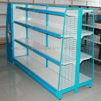 Wholesale Gondola Shelving Blue Light Duty Display Rack With Wire Mesh or Steel Board Side from china suppliers