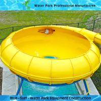 Wholesale Yellow Space Bowl Fiberglass Water Slides Customized Outdoor Water Slides from china suppliers