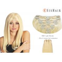 "Quality 26"" Human Hair Color Extensions / Blonde Hair Extensions Human Hair for sale"