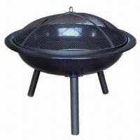 Buy cheap Outdoor/Popular Design Garden Metal Fire Pit, Sized 73 x 73 x 62cm from wholesalers