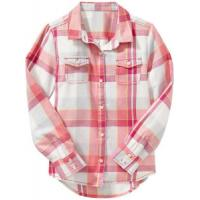 Wholesale Ladies' shirt » Ladies Cotton Plaid Double Flap Pocket Long Sleeve Shirt from china suppliers