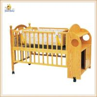 Wholesale Personalised Lengthen Wooden Baby Swing Crib With Wheels Brakes Cabinet from china suppliers