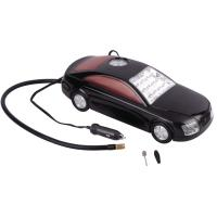 Wholesale 3 in 1 Car Shape Fast Plastic Air Compressor DC12V With LED Light For Tire Inflation from china suppliers