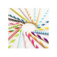Quality Degrading Kraft Paper Colored Paper Straws Long 20cm With Caliber 0.5cm for sale