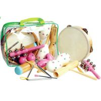 Wholesale Wooden Kids Musical Instrument , Seven Pieces Pink Hand Percussion Set from china suppliers