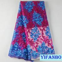 Pink blue African french net lace fabrics Nigeria hot selling net lace material french