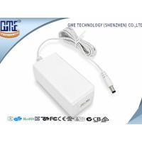 Wholesale Fork Groove DC Connector 12V 1.5A Desktop Ac Dc Plug Adapter , 85% Efficiency from china suppliers
