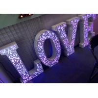 Wholesale RGB LED Illuminated Love Letters For Wedding Decoration Remote Control from china suppliers