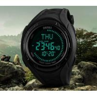 Wholesale Skmei Multifunction 5 ATM Waterproof 40 City World Time Chronograph DST Compass Outdoor Men Sport Watches 1314 from china suppliers