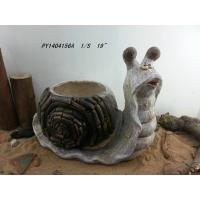 "Wholesale 19"" Natural Snail Decorative Outdoor Planters For Garden / Patios  from china suppliers"
