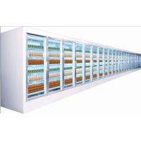 Wholesale Electric 5 Tiered Commercial Beverage Cooler Glass Door Curved Plastic Coated Steel from china suppliers
