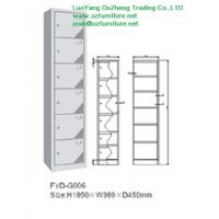 Wholesale Six door steel locker FYD-G006,H1850XW380XD450mm,single row veritical,vent hole,white from china suppliers