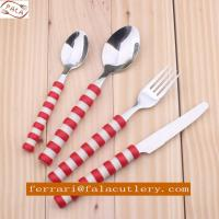 Wholesale Promotional Colorful Plastic Handle Stainless Steel Cutlery from china suppliers