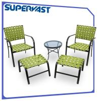 Wholesale Outdoor Furniture Garden 5-Piece Wicker Patio Conversation Furniture Set With Ottoman from china suppliers