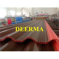 Wholesale Two Layers PVC Hollow Corrugated Roof Tile Making Machines / Corrugated Sheet Making Machine from china suppliers