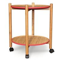 Wholesale China Bamboo Trolley Side Table Serving Table Tea Table for Outdoor, Living Room, Dining from china suppliers