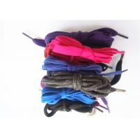 Wholesale Nylon Waxed Flat Shoe Laces with Plastic Tips , High Tenacity from china suppliers