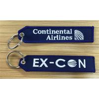 Wholesale Continental Airlines Ex-Con Fabric Embroidered Key Tags Wholesale Retail and Customize from china suppliers