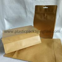 Wholesale moisture proof aluminum foiled coffee packaging bag with valve , kraft paper bag with zipper and handle from china suppliers