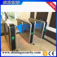 Quality rfic card reader led light flap barrier gates security system for sale
