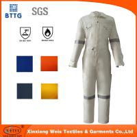 Wholesale 2016 white EN11612 100% Cotton fire retardant workwear coverall from china suppliers