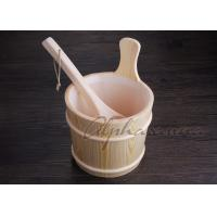 Wholesale 3L Sauna bucket and ladles with PE plastic liner , sauna water bucket from china suppliers