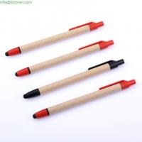 Wholesale Office Stationery Recycled Plastic Pen,plastic advertising ballpoint pen,eco paper pen from china suppliers
