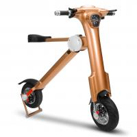 Buy cheap Brown Foldable Electric Scooter 3.5h Charging Time Folding E Bike with Bluetooth from wholesalers