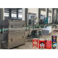 Wholesale Juice / Milk Aluminum Can Filling Sealing Machine For Juice Beverage Factory from china suppliers