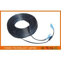 Wholesale Black 2 Core Single Mode Fiber Patch Cord SC - SC 657A2 Simplex 70M With Steel Wire from china suppliers