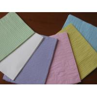 Wholesale Disposable Dental Bibs by two ply of woodpulp paper and one ply of pe film from china suppliers
