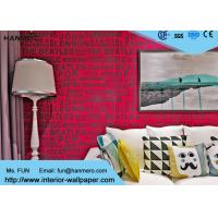 Wholesale Red Color English Words House Decoration Modern Removable Wallpaper from china suppliers