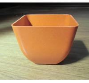 Quality biodegradable decorative flower pot , plant fiber flower pot for sale