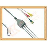 Wholesale Gray SW Artema ECG Patient Cable 3 Leads Snap IEC durability from china suppliers