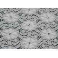 Buy cheap White Elastic Lace Nylon Spandex Fabric Beautiful Elegant CY-LW0783Y from wholesalers