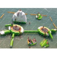 Wholesale Green 0.9mm PVC Inflatable Water Games / inflatable water trampoline from china suppliers