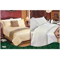 Wholesale Custom 100 % Cotton Full Size White Solid Color Dyed Hotel Bed Set from china suppliers