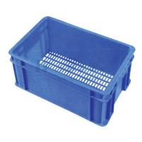 Buy cheap 80kg - 100kg Portable Blue Vegetable Display Stands Basket With Label from wholesalers