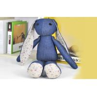 Quality Long ears Rabbit Stuffed Animal denim toys,35CM Custom gifts for sale