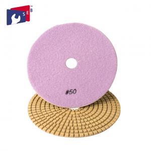 China Flexible Square Diamond Polishing Pads Nylon Sponge 16 - 120 Mm Aperture on sale