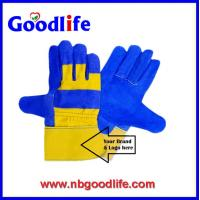 Quality Safety cow split leather hand gloves for sale