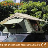Wholesale 3 - 4 Person Canvas Sand outdoor camping Aluminum pole soft roof top campers from china suppliers