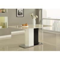 Wholesale White Paint Square Steel Marble Dining Tables Modern for Island Resort Room from china suppliers