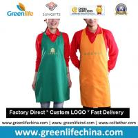 Wholesale High quality promotional custom cotton can waist embroidery aprons cheap for advertising from china suppliers