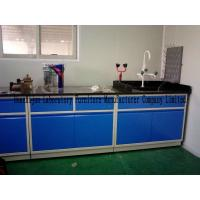 Wholesale Blue All Steel Laboratory Work Benches With Sink PP Pegboard / Adjustable Feet from china suppliers