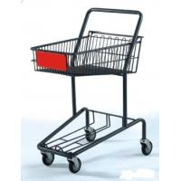 Wholesale Heavy Duty Double Basket Shopping Trolley Steel Shop Cart With Baby Seat from china suppliers