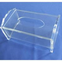 Wholesale Clear Rectangular Acrylic Tissue Paper Box With Sliding Lid from china suppliers