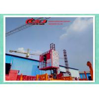 Wholesale Temporary Double Cage Building Hoist 34m/Min , Industrial Elevator Lift from china suppliers